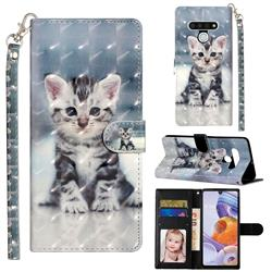 Kitten Cat 3D Leather Phone Holster Wallet Case for LG Stylo 6