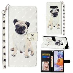 Pug Dog 3D Leather Phone Holster Wallet Case for LG Stylo 6