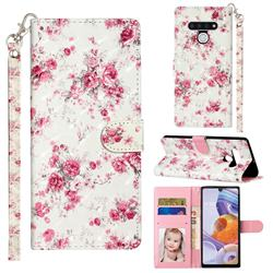 Rambler Rose Flower 3D Leather Phone Holster Wallet Case for LG Stylo 6
