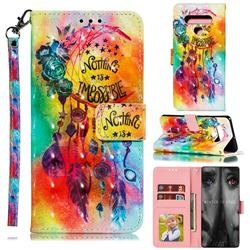 Flower Wind Chimes 3D Painted Leather Phone Wallet Case for LG Stylo 6