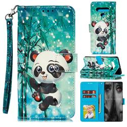 Cute Panda 3D Painted Leather Phone Wallet Case for LG Stylo 6