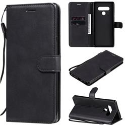 Retro Greek Classic Smooth PU Leather Wallet Phone Case for LG Stylo 6 - Black