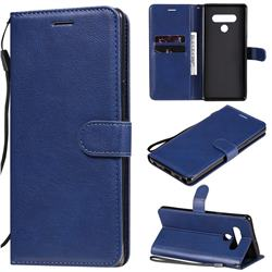 Retro Greek Classic Smooth PU Leather Wallet Phone Case for LG Stylo 6 - Blue