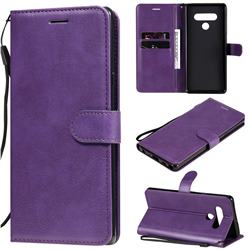 Retro Greek Classic Smooth PU Leather Wallet Phone Case for LG Stylo 6 - Purple