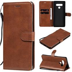 Retro Greek Classic Smooth PU Leather Wallet Phone Case for LG Stylo 6 - Brown