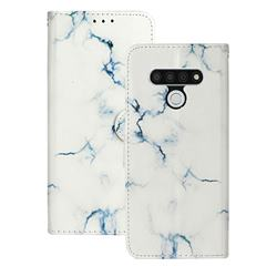Soft White Marble PU Leather Wallet Case for LG Stylo 6