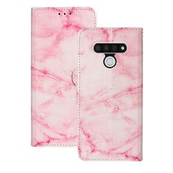 Pink Marble PU Leather Wallet Case for LG Stylo 6