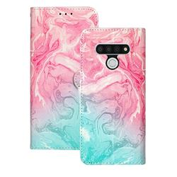 Pink Green Marble PU Leather Wallet Case for LG Stylo 6