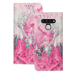 Pink Seawater PU Leather Wallet Case for LG Stylo 6