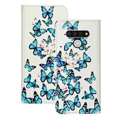 Blue Vivid Butterflies PU Leather Wallet Case for LG Stylo 6
