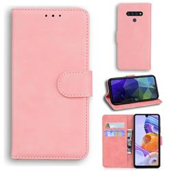 Retro Classic Skin Feel Leather Wallet Phone Case for LG Stylo 6 - Pink