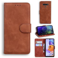 Retro Classic Skin Feel Leather Wallet Phone Case for LG Stylo 6 - Brown
