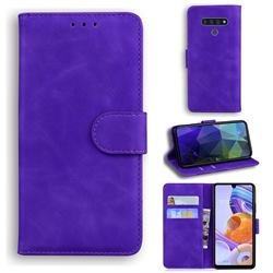 Retro Classic Skin Feel Leather Wallet Phone Case for LG Stylo 6 - Purple