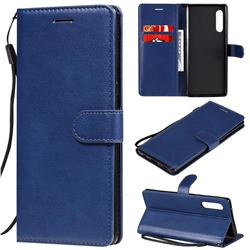 Retro Greek Classic Smooth PU Leather Wallet Phone Case for LG Velvet 5G (LG G9 G900) - Blue