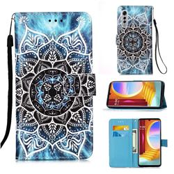 Underwater Mandala Matte Leather Wallet Phone Case for LG Velvet 5G (LG G9 G900)