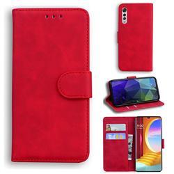 Retro Classic Skin Feel Leather Wallet Phone Case for LG Velvet 5G (LG G9 G900) - Red