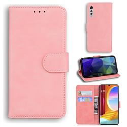 Retro Classic Skin Feel Leather Wallet Phone Case for LG Velvet 5G (LG G9 G900) - Pink