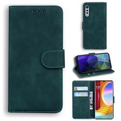 Retro Classic Skin Feel Leather Wallet Phone Case for LG Velvet 5G (LG G9 G900) - Green