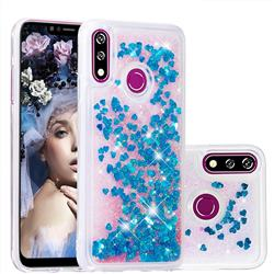 Dynamic Liquid Glitter Quicksand Sequins TPU Phone Case for LG W10 - Blue