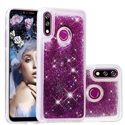 Dynamic Liquid Glitter Quicksand Sequins TPU Phone Case for LG W10 - Purple