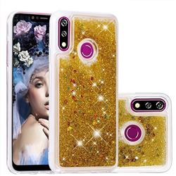 Dynamic Liquid Glitter Quicksand Sequins TPU Phone Case for LG W10 - Golden