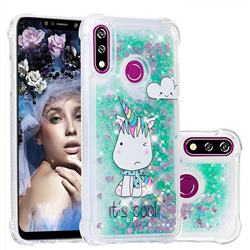 Tiny Unicorn Dynamic Liquid Glitter Sand Quicksand Star TPU Case for LG W10