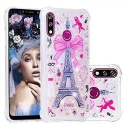 Mirror and Tower Dynamic Liquid Glitter Sand Quicksand Star TPU Case for LG W10