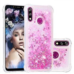 Dynamic Liquid Glitter Sand Quicksand TPU Case for LG W10 - Pink Love Heart