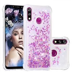 Dynamic Liquid Glitter Sand Quicksand Star TPU Case for LG W10 - Rose
