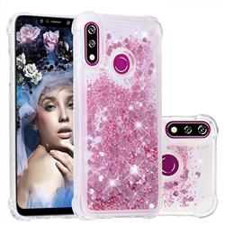 Dynamic Liquid Glitter Sand Quicksand Star TPU Case for LG W10 - Diamond Rose