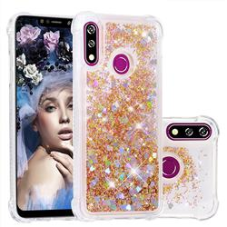 Dynamic Liquid Glitter Sand Quicksand Star TPU Case for LG W10 - Diamond Gold