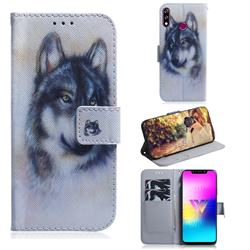 Snow Wolf PU Leather Wallet Case for LG W10