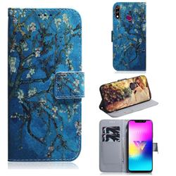Apricot Tree PU Leather Wallet Case for LG W10