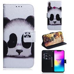 Sleeping Panda PU Leather Wallet Case for LG W10