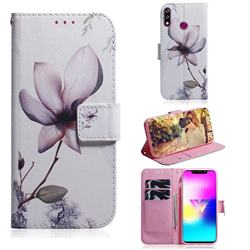 Magnolia Flower PU Leather Wallet Case for LG W10