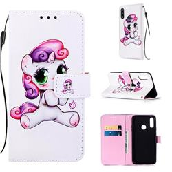 Playful Pony Matte Leather Wallet Phone Case for LG W10
