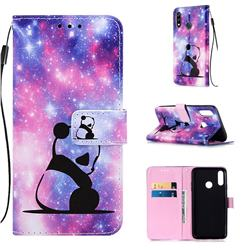 Panda Baby Matte Leather Wallet Phone Case for LG W10