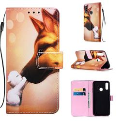 Hound Kiss Matte Leather Wallet Phone Case for LG W10