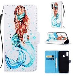 Mermaid Matte Leather Wallet Phone Case for LG W10
