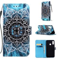 Underwater Mandala Matte Leather Wallet Phone Case for LG W10