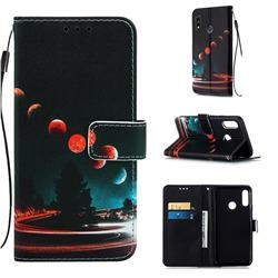 Wandering Earth Matte Leather Wallet Phone Case for LG W10