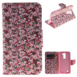 Intensive Floral PU Leather Wallet Case for LG K10 K420N K430DS K430DSF K430DSY