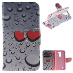 Heart Raindrop PU Leather Wallet Case for LG K10 K420N K430DS K430DSF K430DSY