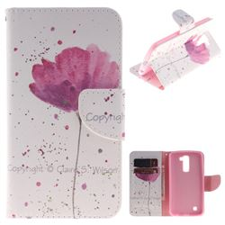 Purple Orchid PU Leather Wallet Case for LG K10 K420N K430DS K430DSF K430DSY