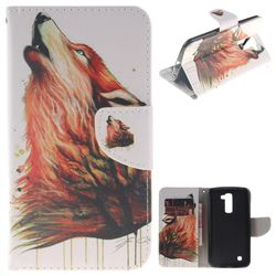 Color Wolf PU Leather Wallet Case for LG K10 K420N K430DS K430DSF K430DSY
