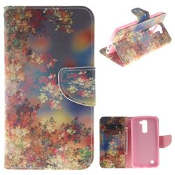 Colored Flowers PU Leather Wallet Case for LG K10 K420N K430DS K430DSF K430DSY