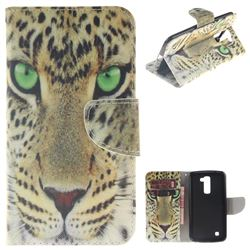 Yellow Tiger PU Leather Wallet Case for LG K10 K420N K430DS K430DSF K430DSY