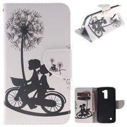 Cycling Dandelion PU Leather Wallet Case for LG K10 K420N K430DS K430DSF K430DSY
