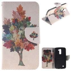 Colored Tree PU Leather Wallet Case for LG K10 K420N K430DS K430DSF K430DSY