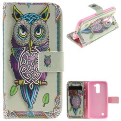 Weave Owl PU Leather Wallet Case for LG K10 K420N K430DS K430DSF K430DSY